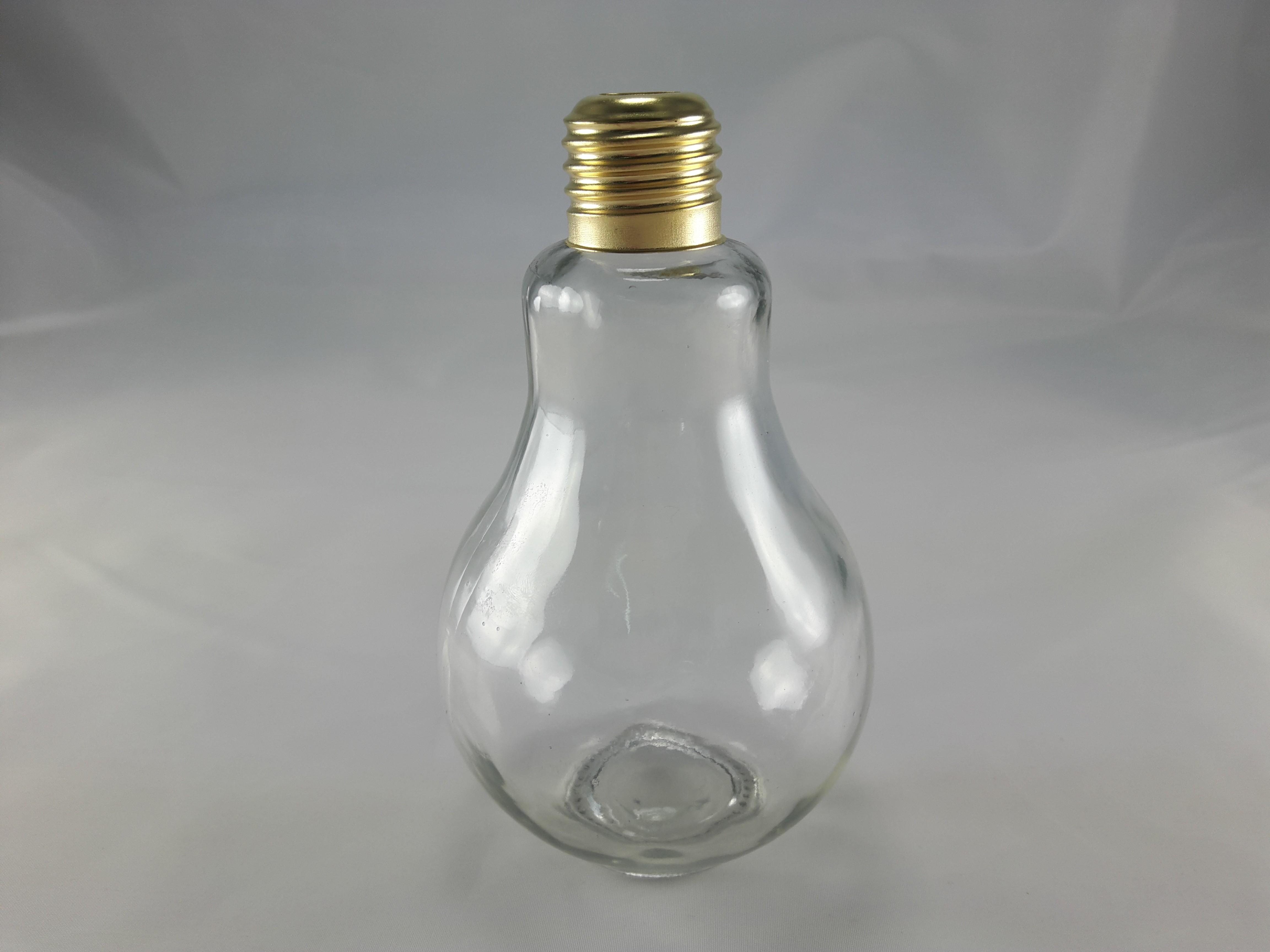 燈泡造型飲料瓶500ml(玻璃空瓶)