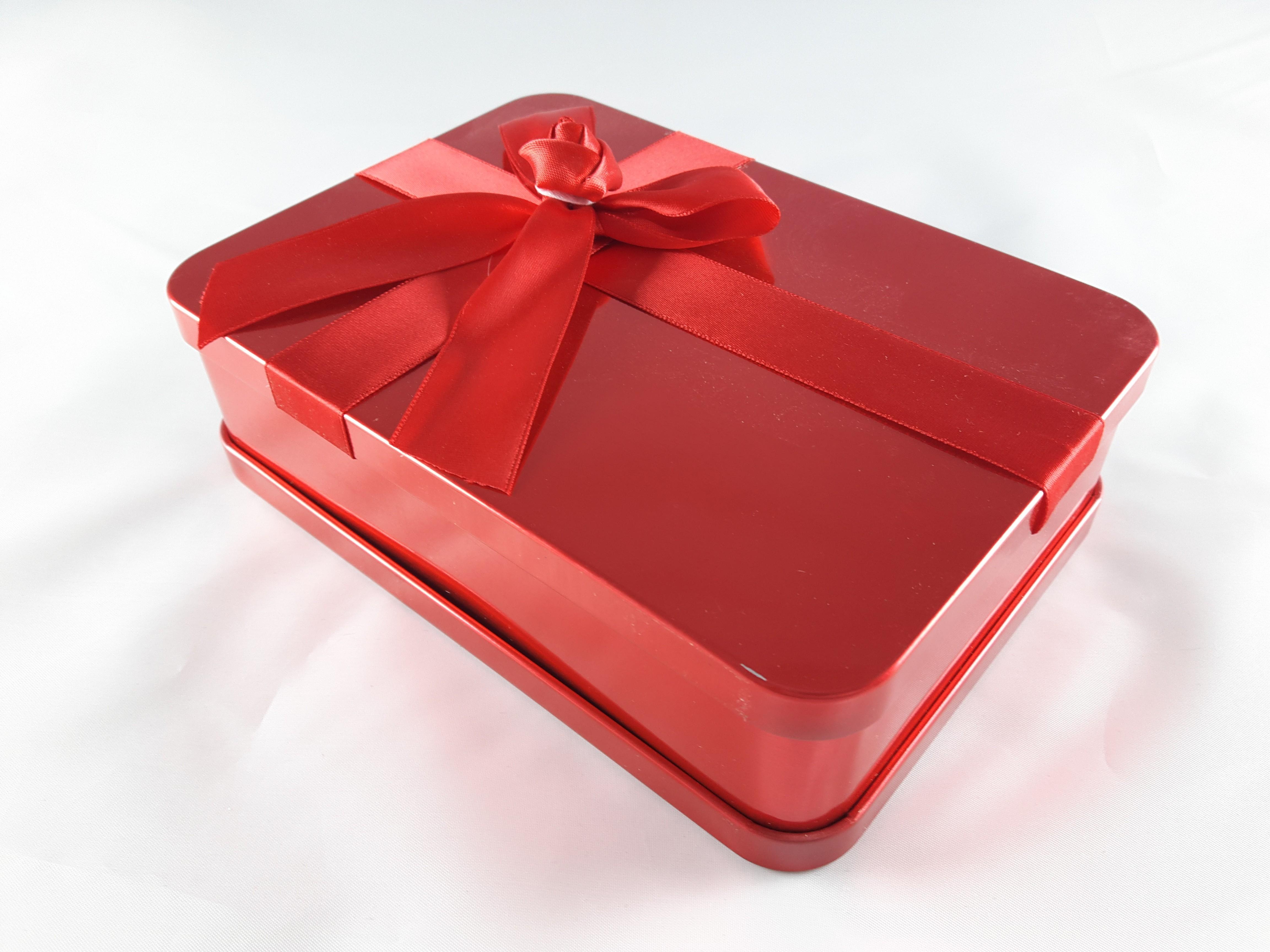 符氣餅專用金屬禮盒(大紅色)