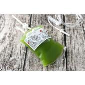 血袋飲品+超長造型吸管-小麥草汁(330cc)